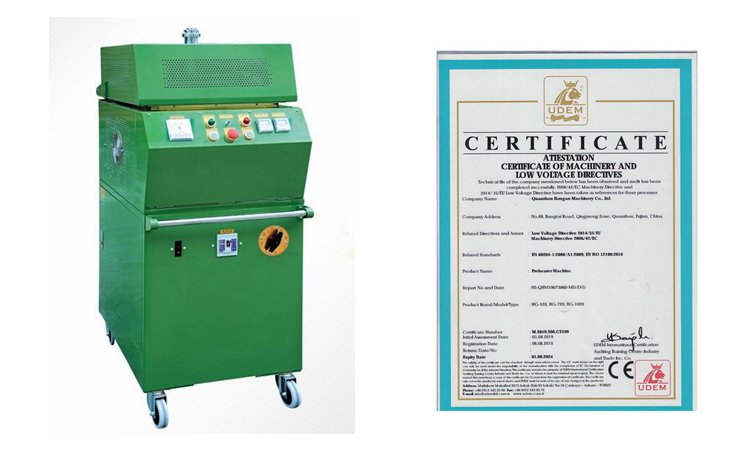 high frequency preheating machine and certificate