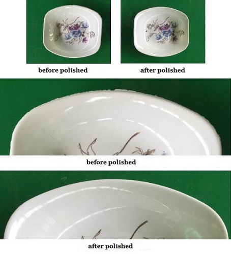 plates before and after polished